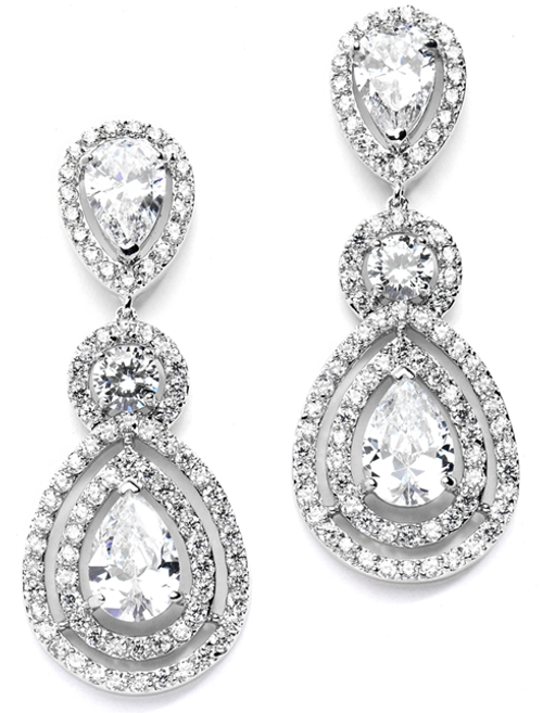 Magnificent CZ Statement Earrings