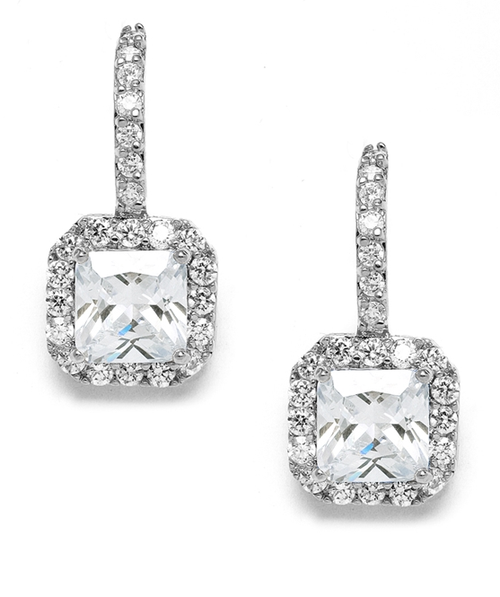 Radiant Cut Cubic Zirconia Drop