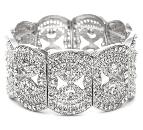 Art Deco Crystal Stretch Bracelet