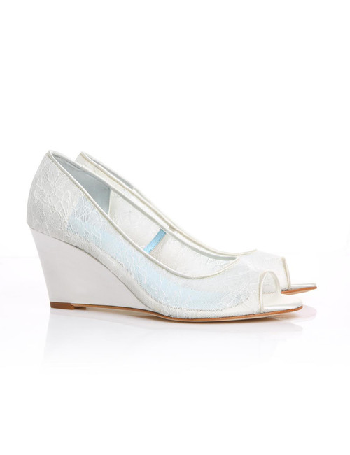 Winnie Lace Wedge Shoes
