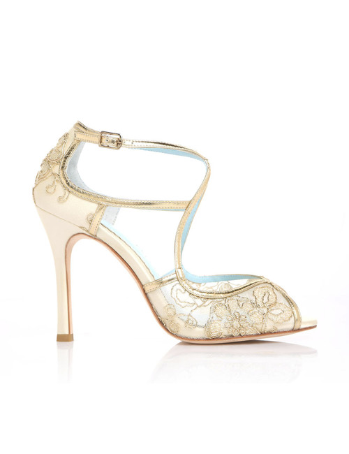 Tess Gold Wedding Shoes