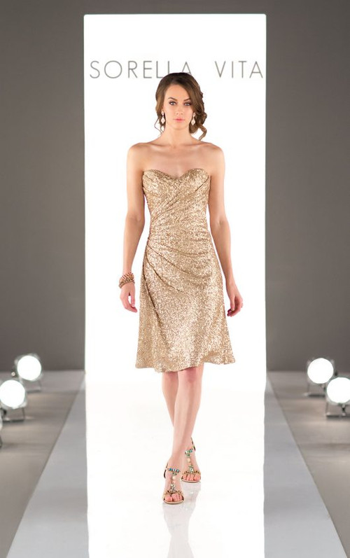 Sorella Vita Sequin Bridesmaid Dress 8793