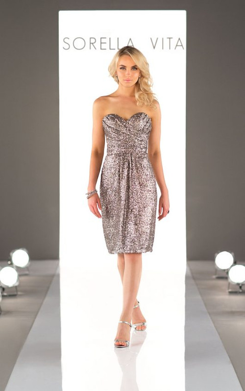 Sorella Vita Sequin Bridesmaid Dress 8833