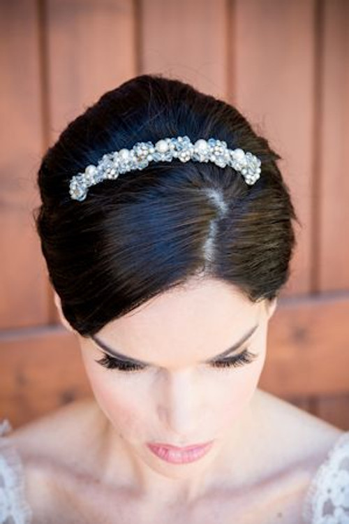 Justine M Couture Pearl Headpiece Combs