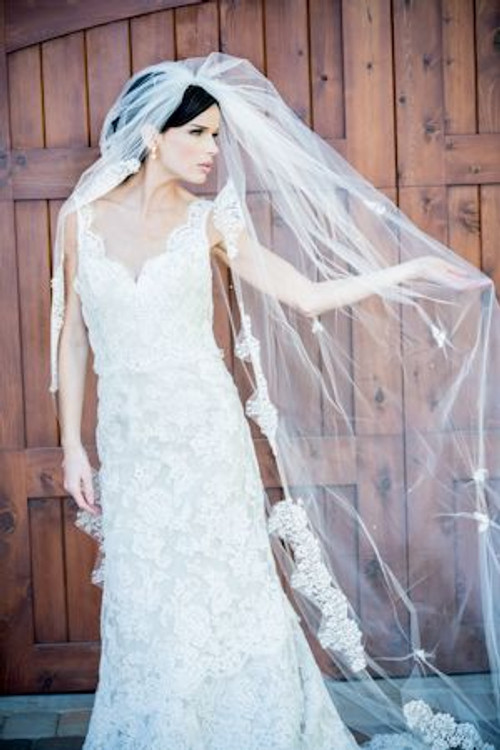 Justine M Couture English Rose Veil