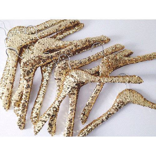 Gold Sequin Hangers