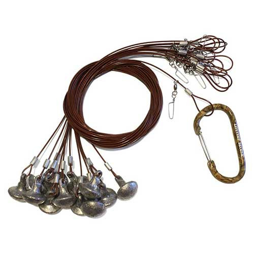 """Lifetime Decoys Texas Rigs with Carabiner 72"""" 6 oz"""