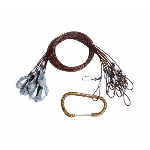 Lifetime Decoys Texas Rigs with Carabiner 48-inch 4-ounce