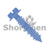 3/16X3 1/4  Slotted Hex Washer Concrete Screw With Drill Bit Blue Perma Seal (Box Qty 100)  BC-1052CNSW