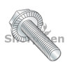 8-32X5/8  Serrated Hex Flanged Washer Full Thread Screw Case Hard Zinc & Bake (Box Qty 7000)  BC-0810MWW
