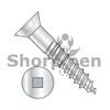 6-18X1  Square Drive Flat Head Full Body Wood Screw 2/3 Thread Zinc (Box Qty 6000)  BC-0616DQF