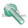 8-32X1/4  Serrated Hex Flanged Washer Full Thread Screw Case Hard Zinc Green & Bake (Box Qty 10000)  BC-0804MWWG