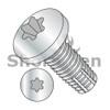 2-56X1/4  Six Lobe Pan Thread Cutting Screw Type F Fully Threaded Zinc And Bake (Box Qty 10000)  BC-0204FTP
