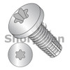 10-32X3/4  Six Lobe Pan Thread Cutting Screw Type F Fully Threaded 18 8 Stainless Steel (Box Qty 3000)  BC-1112FTP188