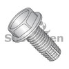 10-32X1  Unslotted Indented Hex Washer Thread Cutting Screw Type F Fully Thread 18-8 Stainless (Box Qty 2500)  BC-1116FW188