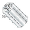 6-32X1/4  One Quarter Hex Female Standoff Brass Nickel (Box Qty 500)  BC-140406HFBN