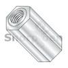 4-40X1/2  One Quarter Hex Female Standoff Brass Nickel (Box Qty 500)  BC-140804HFBN