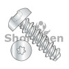2-32X1/4  Six Lobe Pan High Low Screw Fully Threaded Zinc and Bake (Box Qty 10000)  BC-0204HTP