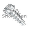 4-24X3/8  Slotted Indented Hex Washer Self Drilling Screw Full Thread Zinc & Bake (Box Qty 10000)  BC-0406KSW