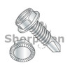 8-32X1/2  Slotted Indented Hex Washer Serrated Self Drilling Screw Full Thread Zinc Bake (Box Qty 10000)  BC-0808KSWSMS