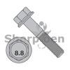 M6-1.0X10  DIN 6921 Class 8 Point 8 Metric Flange Bolt Screw Non Serrated Plain (Box Qty 1000)  BC-M610BF8P