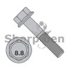 M6-1.0X25  DIN 6921 Class 8 Point 8 Metric Flange Bolt Screw Non Serrated Plain (Box Qty 1000)  BC-M625BF8P