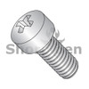 2-56X3/8  Phillips Fillister Machine Screw Fully Threaded 18-8 Stainless Steel (Box Qty 5000)  BC-0206MPL188