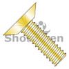 4-40X3/16  Phillips Flat Undercut Machine Screw Fully Threaded Zinc Yellow (Box Qty 10000)  BC-0403MPUY