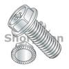 6-32X1/4  Phillips Hex Washer Serrated Machine Screw Full Thread Nickel (Box Qty 10000)  BC-0604MPWSNP