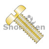 4-40X1/4  Slotted Pan Machine Screw Fully Threaded Zinc Yellow ROHS (Box Qty 10000)  BC-0404MSPY