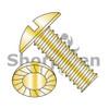 5/16-18X1  Slotted Truss Serrated Machine Screw Fully Threaded Zinc Yellow (Box Qty 1250)  BC-3116MSTSY