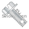 3/8-16X3 1/2  Slotted Indent Hex washer Mach Screw Full Thread Drill Hole Zinc (Box Qty 200)  BC-3756MSWD