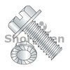 8-32X3/8  Slotted Indented Hex Washer Head Serrated Machine Screw Fully Threaded Zinc (Box Qty 10000)  BC-0806MSWS