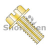 10-24X1/2  Slotted Indented Hex Washer Head Machine Screw Fully Threaded Zinc Yellow (Box Qty 7000)  BC-1008MSWY