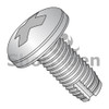 8-32X1/2  Phillips Pan Thread Cutting Screw Type 1 Full Thread 18 8 Stainless Steel (Box Qty 5000)  BC-08081PP188