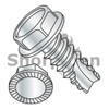 10-16X1/2  Unslotted Indented Hex Washer Serrated Thread Cut Screw Type 25 Full Threaded Zinc Bake (Box Qty 8000)  BC-10085WS