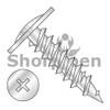 8X1 5/8  Phillips Modified Truss Head Fine Thread Drywall Screw Fully Threaded Zinc (Box Qty 3000)  BC-0826YPM