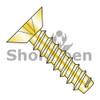 8-18x3/8  Phillips Flat Undercut Self Tapping Screw Type B Fully Threaded Zinc Yellow ROHS (Box Qty 10000)  BC-0806BPUY