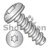 8-18X5/8  6 Lobe Pan Self Tapping Screw Type B Fully Threaded 18 8 Stainless Steel (Box Qty 2500)  BC-0810BTP188