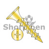 6X3/4  Phillips Recess Bugle Head Coarse Thread Drywall Screw Zinc Yellow (Box Qty 10000)  BC-0612CPGY