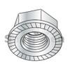 M4-0.7  Din 6923 Metric Class 8 Hex Flange Nut Serrated Zinc (Box Qty 9000)  BC-M4D6923S-8