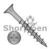 6-13X1 1/8  Phillips Flat Head with Nibs Deep Thread Wood Screw Type 17 2/3 Thread Black Ox (Box Qty 9000)  BC-0618DPF17B