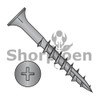 6-13X1 1/4  Phillips Flat Head with Nibs Deep Thread Wood Screw Type 17 2/3 Thread Black Ox (Box Qty 8000)  BC-0620DPF17B