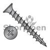 6-13X7/8  Phil Flat No Nibs Deep Thread Wood Screw Type 17 Full Thread Black Oxide (Box Qty 7000)  BC-0614DPF17NNB