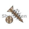 5X1/2  Phillips Flat Hinge Screw Coarse Thread Full Threaded Steel Antique Brass Finish (Box Qty 10000)  BC-05C08DPFDAB