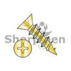 5X1/2  Phillips Flat Hinge Screw Coarse Thread Fully Threaded Steel Bright Brass Finish (Box Qty 10000)  BC-05C08DPFDBB