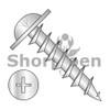 8-11X1/2  Phillips Drive Round Washer Head Deep Thread Wood Screw Full Thread Zinc Bake (Box Qty 8000)  BC-0808DPRWD