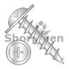 8-11X1  Phillips #10 Round Washer Head Deep Thread Wood Screw Full Thread Zinc Bake (Box Qty 7000)  BC-0816DPRWD10