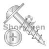 8-11X1 1/8  Phillips #10 Round Washer Head Deep Thread Wood Screw 2/3 Thread Zinc Bake (Box Qty 5000)  BC-0818DPRWD10