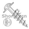 8-11X2 1/2  Phillips Drive Round Washer Head Deep Thread Wood Screw 2/3 Thread Zinc Bake (Box Qty 3000)  BC-0840DPRWD